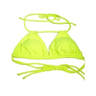 Women's Neon Yellow Spandex Double Slide Tri Top (3 options available)