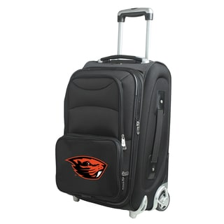 Denco Sports Oregon State Black Nylon 21-inch Carry-on Spinner Suitcase