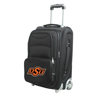 Denco Sports Oklahoma State 21-inch Carry-on 8-wheel Spinner Suitcase