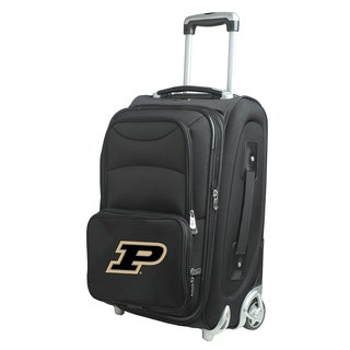 Denco Sports Purdue Black Ballistic Nylon 21-inch Carry-on 8-wheel Spinner Suitcase