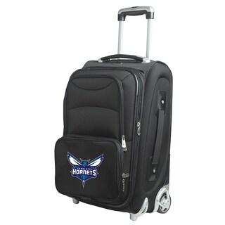 Denco Charlotte Hornets Black Nylon 21-inch Carry-on 8-wheel Spinner Suitcase
