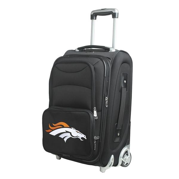 Denco Denver Broncos Black Nylon 21-inch Carry-on 8-wheel Spinner Suitcase