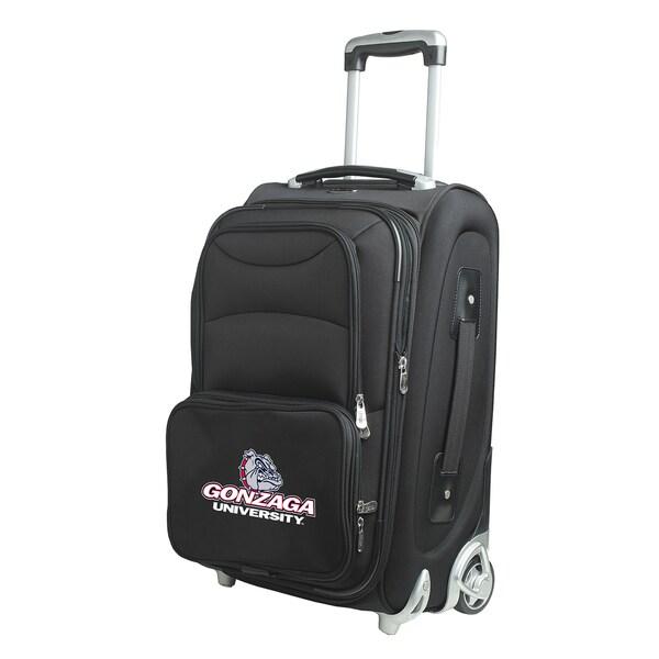 Denco Sports Gonzaga Black Ballistic Nylon 21-inch Carry-on 8-wheel Spinner Suitcase