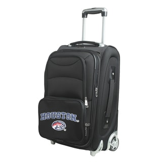 Denco Sports Houston Black Nylon 21-inch Carry-on Spinner Suitcase