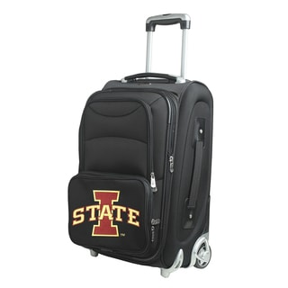 Denco Iowa State Black 21-inch Carry-on 8-wheel Spinner Suitcase