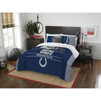 The Northwest Company NFL Indianapolis Colts Draft Full/Queen 3-piece Comforter Set