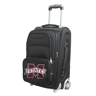 Denco Mississippi State Black 21-inch Carry-on 8-wheel Spinner Suitcase