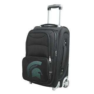 Denco Sports Michigan State Black Nylon 21-inch Carry-on 8-wheel Spinner Suitcase