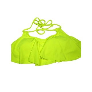 Women's Neon Yellow Hanky Top