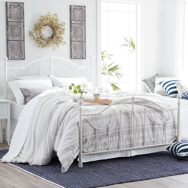Shop Roxie Queen Bed With Antique White Finish Free Shipping Today 13261684