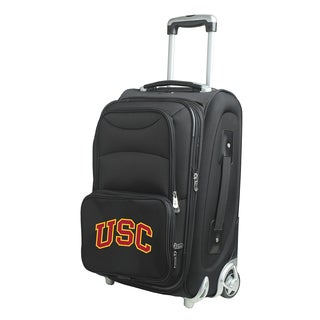 Denco Southern California Black Nylon 21-inch Carry-on 8-wheel Spinner Suitcase