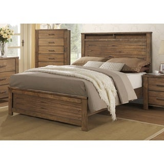 Brayden Complete Satin Wood Panel Bed