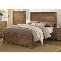 Brayden Complete Satin Wood Panel Bed