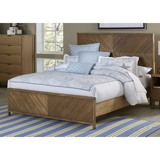 Strategy Complete Distressed Wood Panel Bed