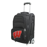 Denco Wisconsin 21-inch Carry-on 8-wheel Spinner Suitcase