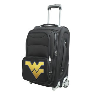 Denco West Virginia Black Nylon 21-inch Carry-on 8-wheel Spinner Suitcase