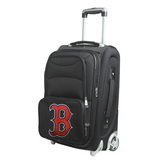 Denco Sports Boston Red Sox 21-inch Carry-on 8-wheel Spinner Suitcase