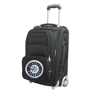 Denco Sports Seattle Mariners 21-inch Carry-on 8-wheel Spinner Suitcase