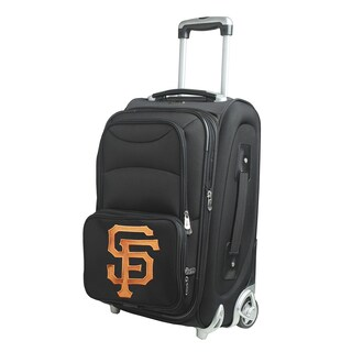 Denco Sports San Francisco Giants 21-inch Carry-on 8-wheel Spinner Suitcase