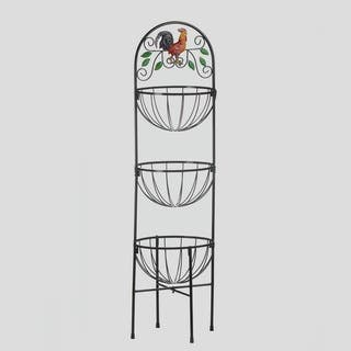 Rooster 3-Basket Metal Stand|https://ak1.ostkcdn.com/images/products/13261776/P19973991.jpg?impolicy=medium