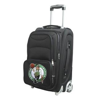 Denco Sports Boston Celtics Black Nylon 21-inch Carry-on Spinner Suitcase