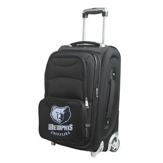 Denco Memphis Grizzlies Black Nylon 21-inch Carry-on 8-wheel Spinner Suitcase