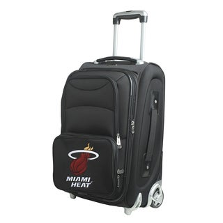 Denco Sports Miami Heat 21-inch Carry On 8-wheel Spinner Suitcase
