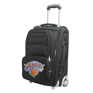 Denco Sports New York Knicks Black Ballistic Nylon 21-inch Carry-on 8-wheel Spinner Suitcase