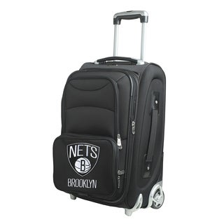 Denco Sports Brooklyn Nets 21-inch Carry On 8-wheel Spinner Suitcase