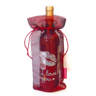 I Love You Wine Bags 10 PIECES Kiss Translucent Tissue