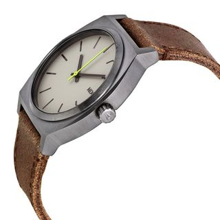 Nixon Men's A045-1388 'Time teller' Brown Leather Watch