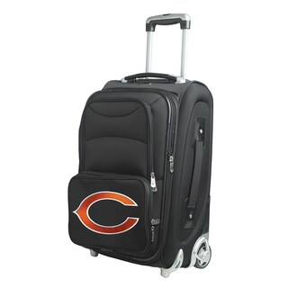 Denco Sports Chicago Bears Black Ballistic Nylon 21-inch Carry-on 8-wheel Spinner Suitcase