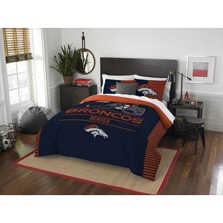 NFL 849 Broncos Draft Full/Queen 3-piece Comforter Set