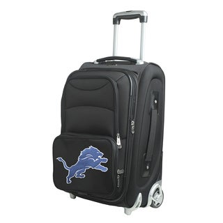 Denco Detroit Lions 21-inch Carry-on 8-wheel Spinner Suitcase