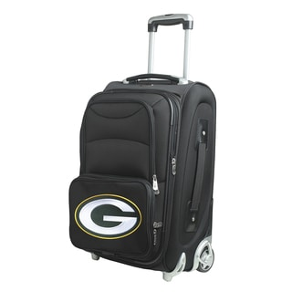 Denco Green Bay Packers Black Ballistic Nylon 21-inch Carry-on 8-wheel Spinner Suitcase