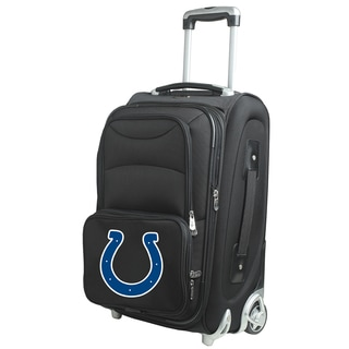 Denco Indianapolis Colts Black Nylon 21-inch Carry-on 8-wheel Spinner Suitcase