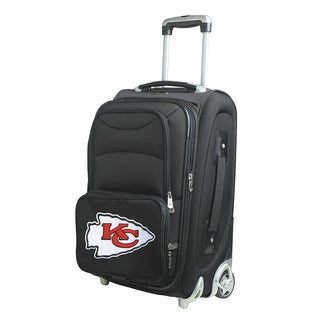 Denco Sports 'Kansas City Chiefs' Black Nylon and Fabric 21-inch Carry-on 8-wheel Spinner Suitcase