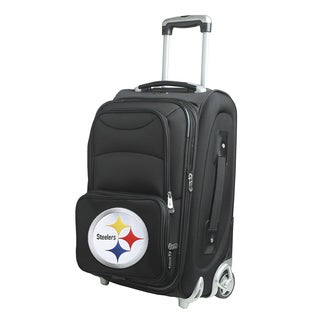 Denco Sports Pittsburgh Steelers Black 21-inch 8-wheel Carry-on Spinner Suitcase