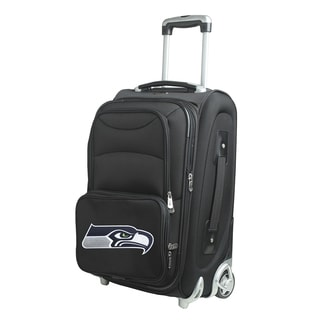 Denco Sports Seattle Seahawks 21-inch Carry-on 8-wheel Spinner Suitcase