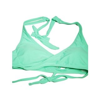 The Wrap Green Nylon/Spandex Halter Top