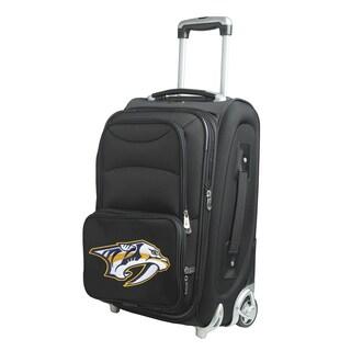 Denco Sports Nashville Predators 21-inch Carry-on 8-wheel Spinner Suitcase