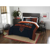 The Northwest Company NFL Chicago Bears Draft Full/Queen 3-piece Comforter Set