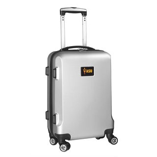 Denco Arizona State Silver Plastic 20-inch Hardside Carry-on 8-wheel Spinner Suitcase