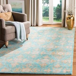 Safavieh Heritage Traditional Handmade Turquoise/ Multi Wool Rug (3' x 5')