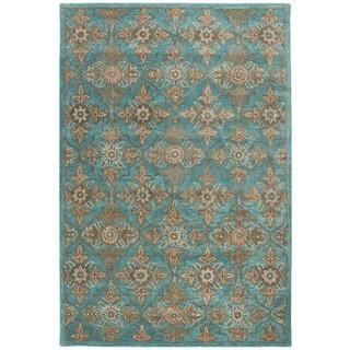Safavieh Heritage Traditional Handmade Turquoise/ Multi Wool Rug (4' x 6')