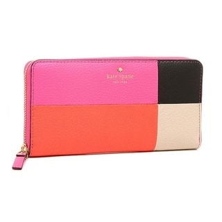 Kate Spade Cobble Hill Lacey Tulip Pink/Bright Papaya/Porcelain Wallet