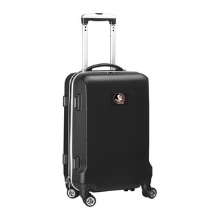 Denco Florida State Black Plastic 20-inch Hardside Carry-on 8-wheel Spinner Suitcase