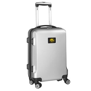Denco Sports Iowa Black/ Silver ABS 20-inch Hardside Carry-on 8-wheel Spinner Suitcase