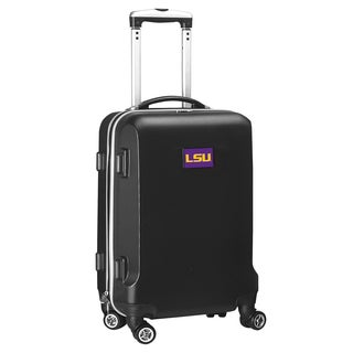 Denco Sports LSU Black ABS 20-inch Hardside Carry-on Spinner Suitcase