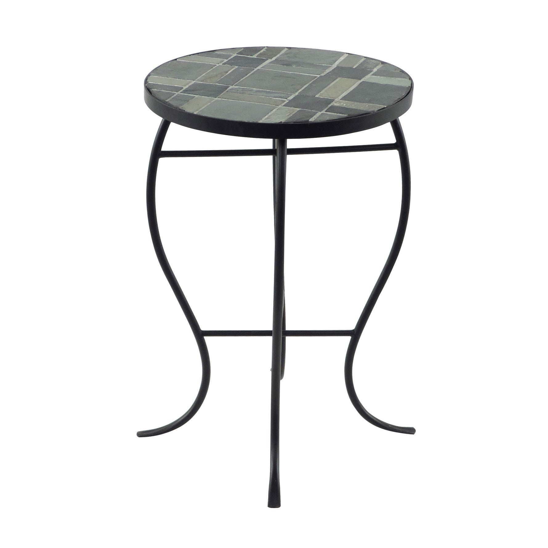 Briarwood Home Decor Mosaic Tile Round-top Table with Met...